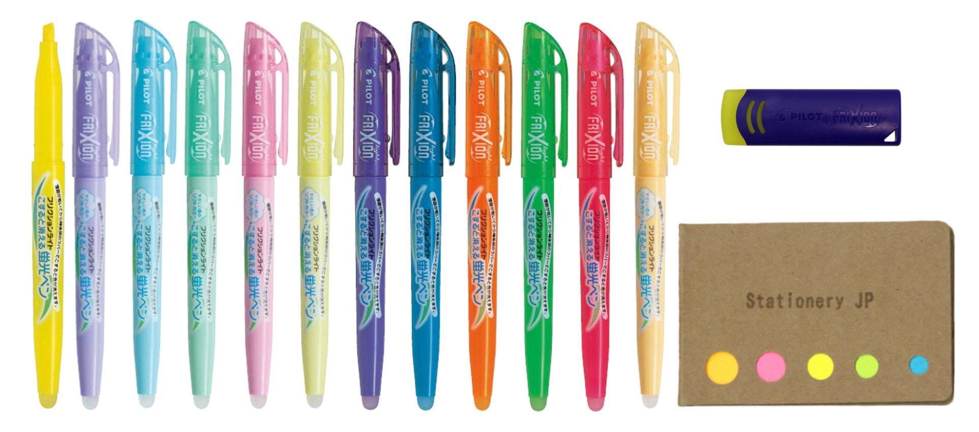 Green 3 x Pilot SFC-10M FriXion Colors Erasable 0.7mm Sign Marker Pen