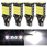4Pcs Super Bright 921 T15 912 W16W LED Bulb 4014-45SMD Chips 912 LED Bulbs Used For Backup Reverse Lights, 1500 Lumens 6500K