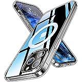 AOOMO MagSafe対応 iPhone12 用 ケース マグネット搭載 iPhone12Pro 用 ケース 6.1インチ 全透明 マグネット搭載 クリアケース 耐衝撃 すり傷防止 黄変防止 マグセーフ 用ケース アイフォン12 ケース