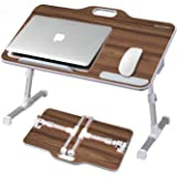 Kavalan Large Size Portable Laptop Table with Handle, Height & Angle Adjustable Sit and Stand Desk, Bed & Breakfast Table Tra