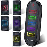 新型 5in1 キーファインダー Key finder 探し物発見器 落し物防止 忘れ物探知機 アラーム 紛失防止 大音量 LED 使用便利 小型 取扱説明書付き 旅行グッズ 高齢者 ブラック