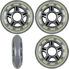 BARBED WIRE 80mm 79a Roller Inline Skate Wheels by Pro Stock