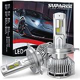 【業界最高輝度】SUPAREE h4 led ヘッドライト HI/LO切替 新車検対応 6500K 18000LM カットライト 12V/24車対応 ファン付き ハイパワー LEDバルブ 3年保証