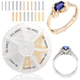 Ontaryon Assorted Ring Size Adjuster for Loose Rings - Reducer to Make Ring Smaller - Invisible Clip Guard Resizer - Pack of