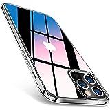 TORRAS 強化ガラス iPhone 12 Pro Max 用 ケース 全透明 硬度9H 黄変なし 衝撃吸収 TPUバンパー 薄型 ストラップホール付き 6.7インチ アイフォン 12 Pro Max用カバー クリア