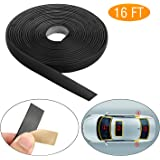 EEEKit 5M/16FT Auto Seal Weather Stripping Rubber Sealing Strip Trim Cover for Car Front Rear Windshield
