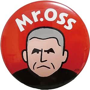 Mr.OSS ミスター押忍 缶バッジ 丸型φ54mm