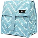 PackIt Freezable Lunch Bag with Zip Closure, Aqua Tie Dye,AMZ-PC-ATD