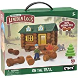 LINCOLN LOGS-On The Trail Building Set-59 Pieces-Real Wood Logs - Ages 3+ - Best Retro Building Gift Set for Boys/Girls-Creat