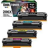 Cool Toner Compatible Toner Cartridge Replacement for HP 206X 206A W2110X HP Color Laserjet Pro MFP M283fdw M255dw M283cdw M2