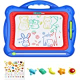 """Geekper Magnetic Drawing Board, 15.75"""" Erasable Colorful Magna Doodle Toys Writing Sketching Pad Set with 5 Shape Stamps & Lo"""