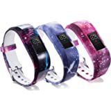 RuenTech Compatible with Garmin vivofit jr/vivofit jr 2 Band(Kid's Bands) Colorful Adjustable Wristbands with Secure Watch-St