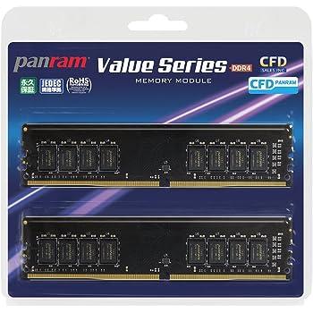 CFD販売  デスクトップPC用メモリ PC4-19200(DDR4-2400) 8GB×2枚 288pin DIMM (無期限保証)(Panramシリーズ) W4U2400PS-8G