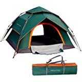 TRIPLE TREE 4 Person Pop Up Tent Family Camping Tents Waterproof Windproof and Sun Protection Tents Two-Layer Multifunctional