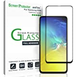 amFilm Screen Protector for Galaxy S10e, Full Cover (Case Friendly) Tempered Glass Film Screen Protector for Samsung Galaxy S