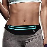 Filoto Running Belt, Waterproof Running Waist Pack for Women and Men, Fitness Workout Adjustable iPhone X 8 7 6 Belt Sport Po