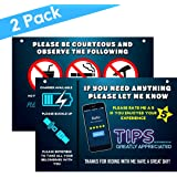 Uber Sign and Lyft Accessories for Car - Reversible Uber Signs for Car – Large 9x6 Inch Premium Thick Laminate 20 Mil Durable