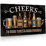 "Putuo Decor Cheers Metal Tin Sign Bar Pub Man Cave Wall Decor 8""x12"""