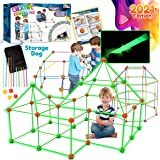 Peertoys Fort Building Kit For Kids - 160 pcs Construction Toys DIY Stem Forts Build Making Kits Play Tent Indoor Outdoor Pla