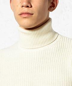 Mercerized Wool Rib Turtleneck Sweater 3213-199-0329: White