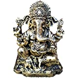 """RK Collections 6.25"""" Lord Ganesh Statue/Ganesha Statue, Polyresin, Antique Bronze Finish, 6.25"""""""