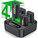 Charger for Xbox One Controller Battery Pack, with 4 x 1200mAh Rechargeable Xbox One Battery Charger Charging Kit for Xbox On