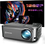 """OKCOO Video Projector, Full HD 1080P 6000 lux 200"""" Display Home Theater Business Office Overhead Projector for Presentation C"""