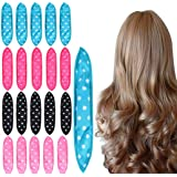 Foam Hair Curlers, Pillow Cloth Hair Rollers,No Heat Sleeping Soft Sponge Rollers for Long, Short, Thick & Thin Hair Spiral C
