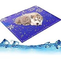 ペット用ひんやりマット 撥水加工 2重構造 無害ジェル 50*65cm 六つ折り畳めるクールマット 犬 猫 柔らかい冷却…