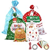 CCINEE Christmas Bags Colored Plastic Gift Bag for The Holiday Assorted Styles-30