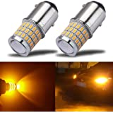iBrightstar Newest 9-30V Super Bright Low Power 1157 2057 2357 7528 BAY15D LED Bulbs with Projector replacement for Turn Sign