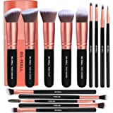 BS-MALL Makeup Brushes Premium Synthetic Foundation Powder Concealers Eye Shadows Makeup 14 Pcs Brush Set, Rose Golden, 1 Cou