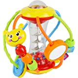 HOLA Baby Toys 6 to 12 Months,Baby Rattles Activity Ball,Shaker,Grab and Spin Rattle,Crawling Educational Learning Sensory To