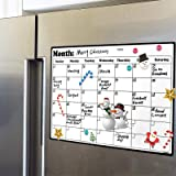 Fridge Calendar Magnetic Dry Erase Calendar Whiteboard Calendar for Kitchen Refrigerator Planners 16.9 Inches X 11.8 Inches