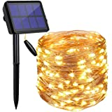 LED Solar String Lights Outdoor, 20M 200 LED Solar Powered Fairy Light with 8 Lighting Modes,Waterproof Outdoor Solar Lightin