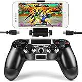 PS4携帯ホルダー PlayStation4 スマホホルダー PS4コントローラー スマホクリップ PS4スマホ固定ホルダー ワイヤレス IOS Android対応