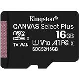 キングストン microSDカード 16GB 最大100MB/s Class10 UHS-I U1 V10 A1 対応…