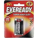 Eveready Black Super Heavy Duty Battery, 9V