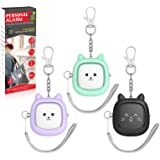 Safe Sound Personal Alarm,3 Pack130 dB Loud Siren Song Emergency Self-Defense Security Alarm Keychain with LED Light, Persona