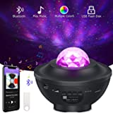 Night Light Projector, Star Projector LED Nebula Cloud Ocean Wave Projector with Bluetooth Music Speaker for Baby Bedroom, Ga
