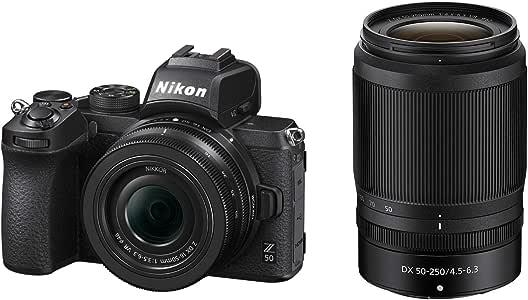 Nikon ミラーレス一眼カメラ Z50 ダブルズームキット NIKKOR Z DX 16-50mm+NIKKOR Z DX 50-250mm付属 Z50WZ ブラック