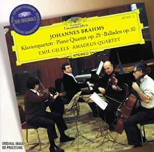 Brahms: Piano Quartet, Ballades / Amadeus Quartet