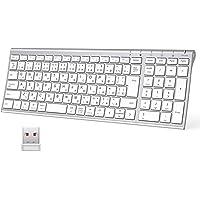 iClever キーボードワイヤレスキーボード JIS基準 日本語配列 超薄型 テンキー付き 無線 2.4G キーボード…