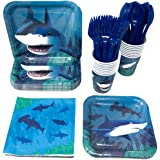 Shark Standard Party Packs (65+ Pieces for 16 Guests!), Shark Tableware, Shark Party Supplies