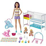 Barbie GFL38 Skipper Babysitters Inc Nap'n Nurture Nursery Dolls and Playset