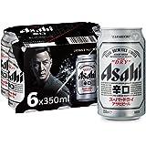 Asahi Super Dry Beer Can, 6 x 350ml