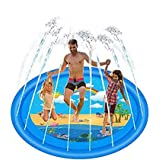 HyeLife 172cm Rainbow Sprinkler for Kids, Splash Pad, Sprinklers for Lawn, Outdoor Swimming Pool Water Toys Fun for Kids, Tod