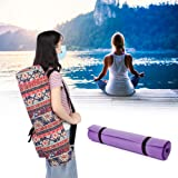 Multifunctional Yoga Mat Bag with Adjustable Canvas Shoulder Strap, Durable Washable Yoga Carrying Bag, Sports House for Outd
