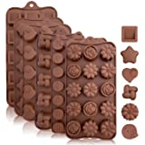 Silicone Chocolate Candy Molds: Silicone Baking Molds for Cake, Brownie Topper, Hard & Soft Candies, Gummy, Jello, Keto Fat B