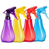 8 Oz Empty Plastic Spray Bottles with Adjustable Nozzle - Durable Trigger Sprayer with Mist & Stream Modes - Refillable Spray